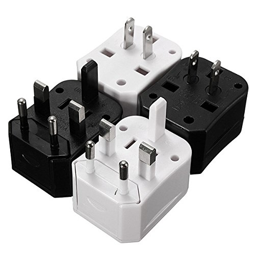 All In One Us Uk Eu Au International Travel Universal Adapter Power Charger Plug,White