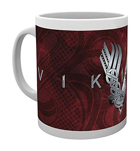 Empire Merchandising 688019Vikings Logo vichinghi Serie TV tazza in ceramica, diametro 8,5cm, altezza 9,5cm
