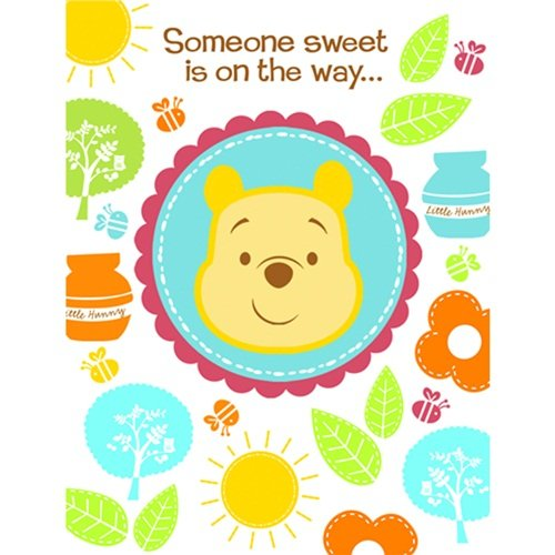 Disney Pooh Little Hunny Bunny Baby Shower Invitations (8 count) Party Accessory rosemary wells bunny party