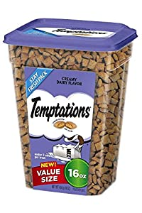 TEMPTATIONS Classic Treats for Cats Creamy Dairy Flavor 16 Ounces by Temptations