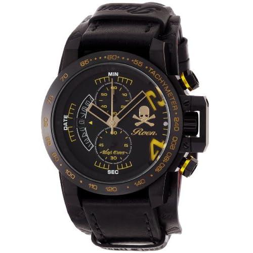 [エンジェルクローバー]Angel Clover 腕時計 ロエンコラボレーション ブラック文字盤 600本限定モデル カーフ革ベルト 10気圧防水 クロノグラフ プロテクションパット付 TC44ROY2 メンズ