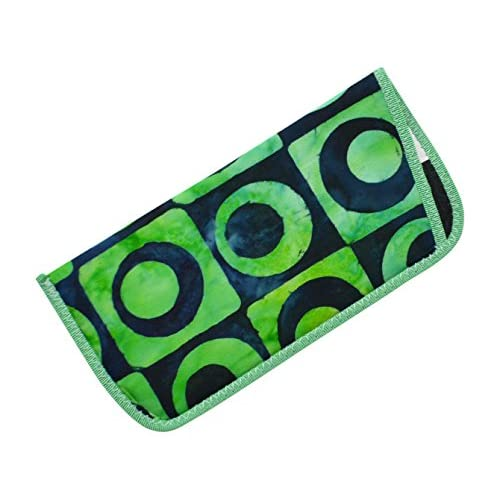 Bold Patterned Eyeglass Slip Case Purple Orange Yellow Green Blue Lime USA Made