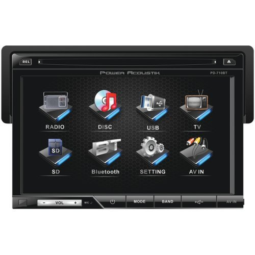 Power Acoustik Pd-710B 7 Single-Din In-Dash Tft/Lcd Touchscreen Dvd Receiver (With Bluetooth(R))