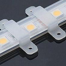ajibi 100pcs/lot Tiras LED de cable de silicona clip para 10mm ancho SMD 5050LED de manguera de luz de tiras flexible luz plana Fixing