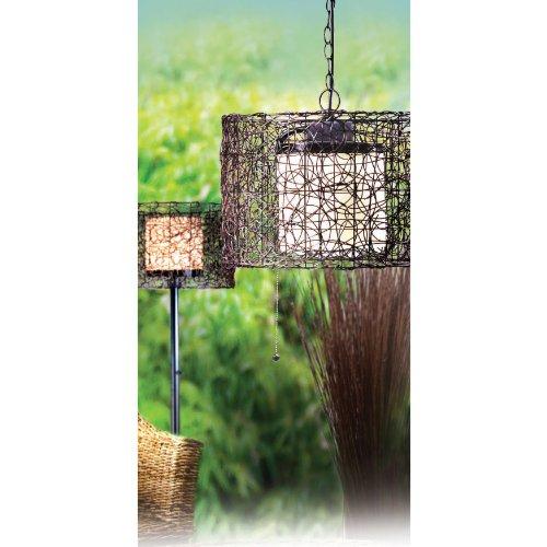 Kenroy Home 93393BRZ Tanglewood 1-Light Pendant, Black