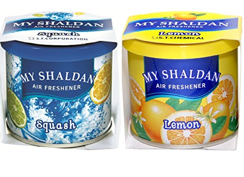 Auto Car Winner My Shaldon Lemon and Squash Gel Combo Air freshner for Car/Home/Office