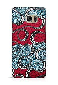 Cover Affair Abstract Printed Back Cover Case for Samsung Galaxy Note 7