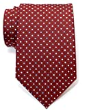 Retreez Vintage Three-Colour Polka Dots Woven Men's Tie Necktie - 5 Colors