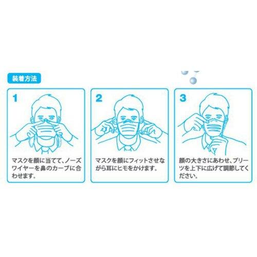 BMC フィットマスク (使い捨てサージカルマスク) レギュラーサイズ 白色 50枚入