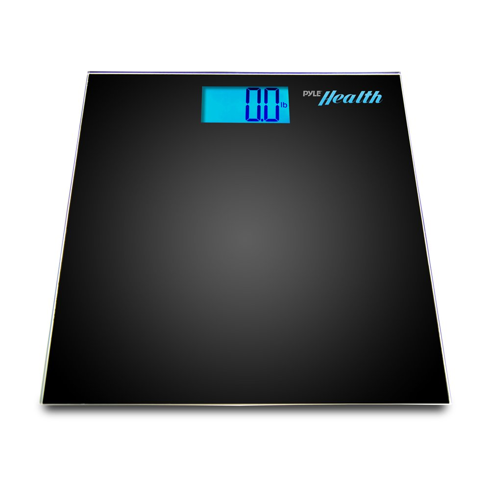 Pyle Bluetooth 4.0 SMART Digital Body Weight Scale with Wireless Smartphone Tracking App (Black)