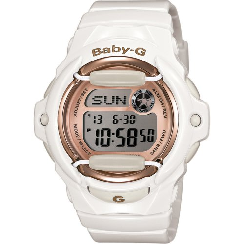 Casio Women's BG169G-7 Baby G White Watch