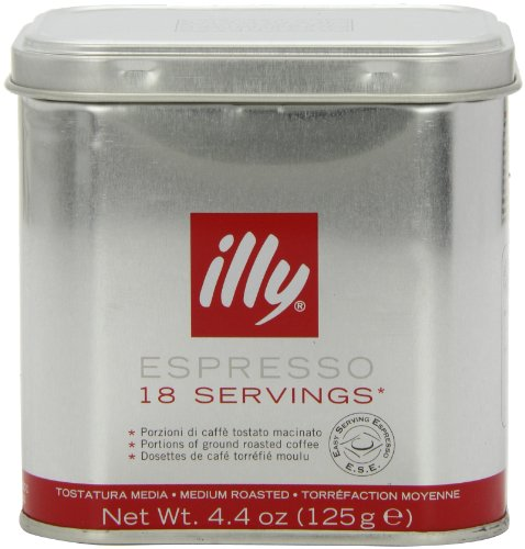 Shop for illy Tin of 18 Classic Roast Ground Coffee Servings (Pack of 2, Total 36 Pods) - Eurdh