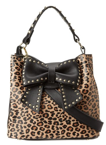Betsey Johnson Women'S Hopeless Romantic Ii Bucket Bag, Leopard, One Size front-927530