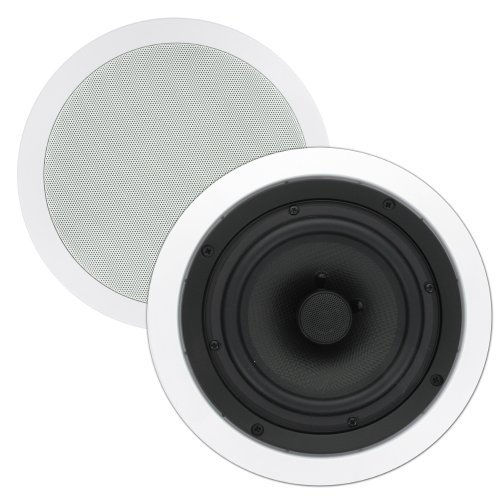Theater Solutions Ts65C 6.5-Inch Kevlar In Ceiling Speakers (White)