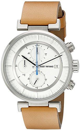 Issey Miyake hombre silay008W analógico pantalla Cuarzo Reloj, color marrón