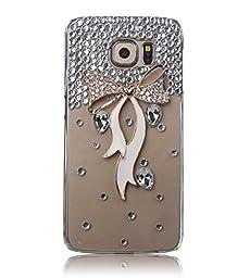 Samsung Galaxy Note 5 Case, Sense-TE Luxurious Crystal 3D Handmade Sparkle Glitter Diamond Rhinestone Ultra-Thin Clear Cover with Retro Bowknot Anti Dust Plug - Bow