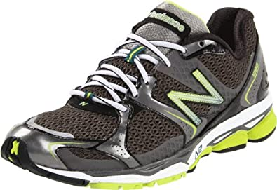 New Balance Men's M1080 Running Shoe, Grey/Green, 7.5 D US