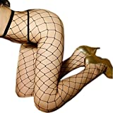 Queen.M Hot Fishnet Seamless Lycra Stocking Mesh Sexy Pantyhose Tights for Women