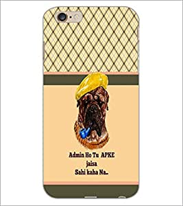 PrintDhaba Couple Pattern D-5814 Back Case Cover for APPLE IPHONE 6 PLUS (Multi-Coloured)