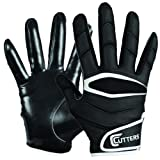 Cutters Gloves Youth C-TACK Revolution Football Gloves (Black, Medium)