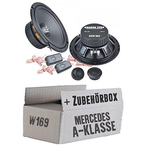 Mercedes classe A W169-Ground Zero GZIC 16x-16cm Système de haut-parleur avant-Kit de montage