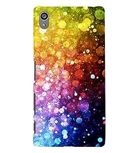 Bright Multi Colour Light Pattern 3D Hard Polycarbonate Designer Back Case Cover for Sony Xperia Z5 Premium (5.5 Inches) :: Sony Xperia Z5 Premium Dual