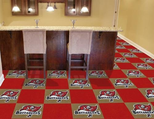 """Tampa Bay Buccaneers NFL Carpet 18""""x18"""" Tiles"""