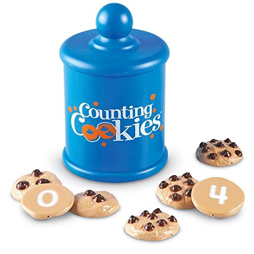 러닝 리소스 교육용 교구, 똑똑한 쿠키 LEARNING RESOURCES SMART SNACKS COUNTING COOKIES 0-10