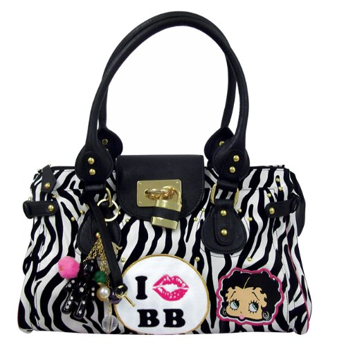 Betty Boop - Borsa On Safari Donna, Bianco (White/Black), Taglia unica