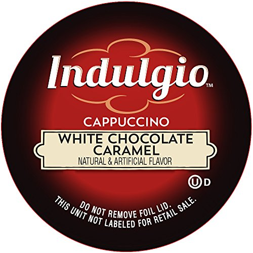Indulgio Cappuccino, White Chocolate Caramel, 12-Count Single Serve Cup for Keurig K-Cup Brewers (White Mocha Keurig Cups compare prices)