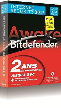 Bitdefender Internet Security 2013 - mise à jour (3 postes, 2 ans)