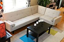 Hot Sale Left Right Changeable Sectional Beige Modern Contemporary Upholstered Quality Sleeper 3-Piece Sofa Set Klick Klak High Quality