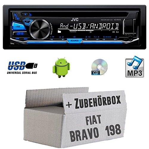 Fiat Bravo 198 - JVC KD-R472E - CD/MP3/USB Autoradio - Einbauset