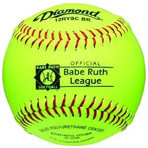 Buy Diamond Sports 12-Inch Optic Super Synthetic Cover Babe Ruth Softball (Dozen) by Diamond Sports