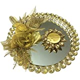 Loops N Knots Golden Wedding /Engagement Ring Platter With Single Ring Holder