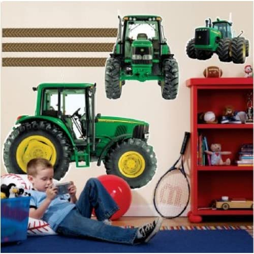 John deere riesen traktor xxl wandtattoo set mega wandsticker - Traktor wandtattoo ...