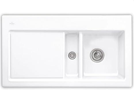 Villeroy & Boch Subway 50 de nieve Colour blanco y cojín de cerámica-fregadero blanco el fregadero de la cocina