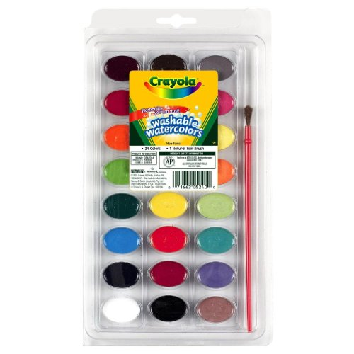 2 PACK of Crayola Washable Watercolors, 24 count (53-0524)