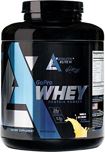 Athletic Elite 10 GoProWhey Protein Powder, Vanilla Ice Cream, 5 lb (Ice Cream Athletics compare prices)