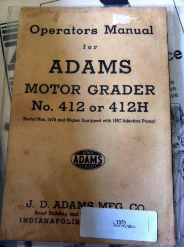 Adams 412H Grader
