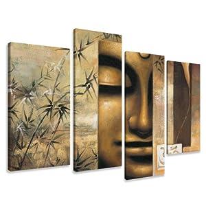 Visario 6157 - Fotografía sobre lienzo (4 piezas, 130 x 80 cm), diseño de Buda - BebeHogar.com