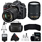 Nikon D7100 24.1 MP DX-Format CMOS Digital SLR with 18-140mm f/3.5-5.6G ED VR AF-S DX NIKKOR Zoom Lens + 32GB Pixi-Basic Accessory Bundle