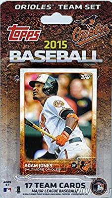 Baltimore Orioles 2015 Topps Baseball Factory Sealed EXCLUSIVE Special Limited Edition 17 Card Complete Team Set with Adam Jones and Many More Stars and Rookies ! Shipped in Bubble Mailer!
