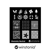 Winstonia Nail Art Stamping Image Plate Absolutely Nautical