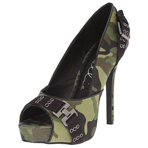 High Heel Pump Shoes Camo