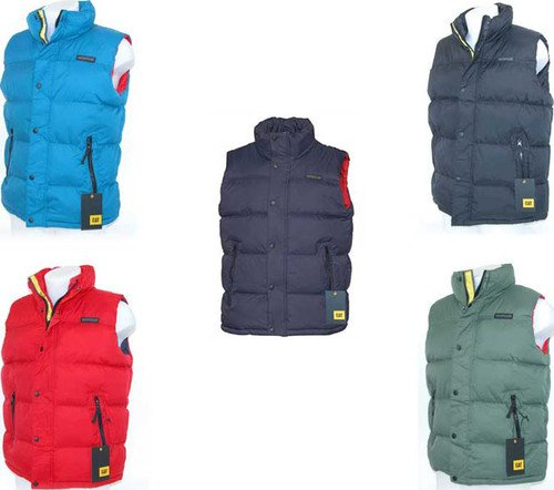CATERPILLAR MENS PADDED PINNACLE GILET / BODYWARMER STORMBLOCKER IN M L XL XXL 5 COLOURS WINTER 2012/13 (JACKET QUILTED COAT) (EXTRA LARGE, RED)