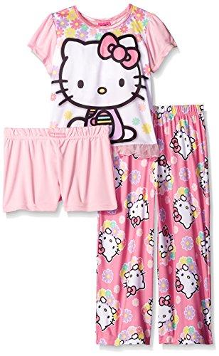 Hello-Kitty-Girls-Flower-Petal-Pillows-3-Piece-Pajama-Set