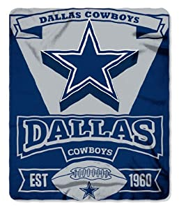 Buy Dallas Cowboys 50x60 Marque Design Fleece Blanket by Northwest