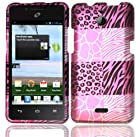 For Huawei Ascend Plus H881C Hard Design Cover Case Pink Exotic Skins Accessory