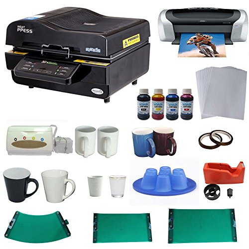 3D Vacuum Heat Press Machine Printer CISS Silicone Mould KIT for Sublimation (3d Printer Press compare prices)